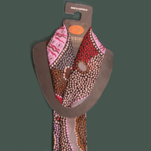 Aboriginal Australian Made Poly Scarf - Click to enlarge