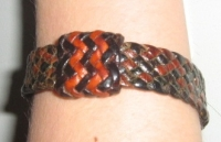 Original Hand Plated Leather Bracelet - Click for more info