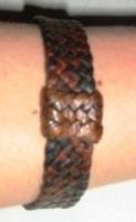 Original Hand Platted Leather Bracelet - Click for more info